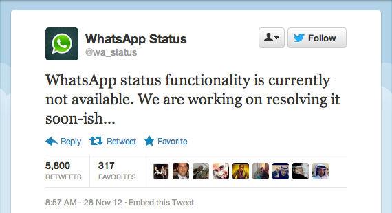 WhatsApp experimentó un error en el estado de los contactos - error-de-whatsapp