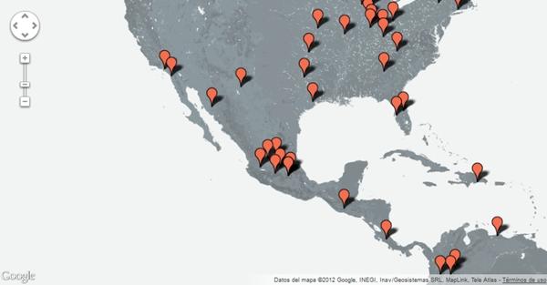 10 ediciones en México participando en el Global Startup Battle - global-startup-battle-map-2012