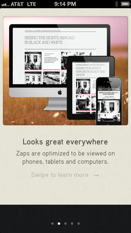 Crear sitios web desde tu iPhone con Zapd - hacer-paginas-web-zapd