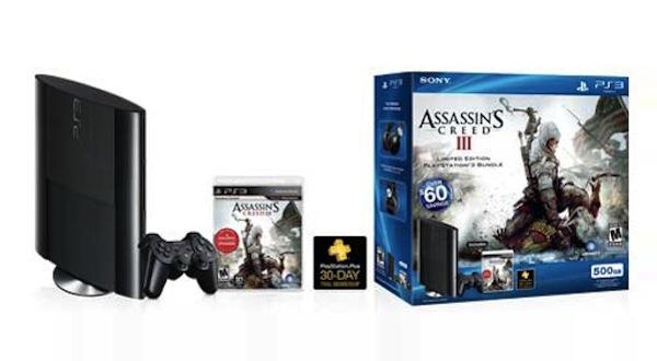 Sony vendió 565,000 consolas PS3 en el pasado Black Friday - playstation-3-500gb-assassins-creed-iii-bundle