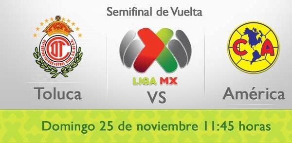 toluca america en vivo semifinal vuelta apertura 2012 Toluca vs América en vivo, Semifinal Apertura 2012 (Liga MX)