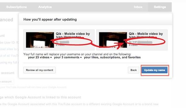 Cómo cambiar el nombre de usuario de Youtube por el de Google Plus - Cambio-usuario-youtube-4