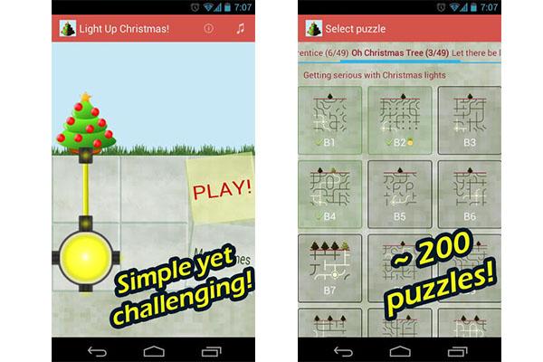 Divertido juego de Navidad para Android, Light Up Christmas - Juego-de-navidad-para-Android
