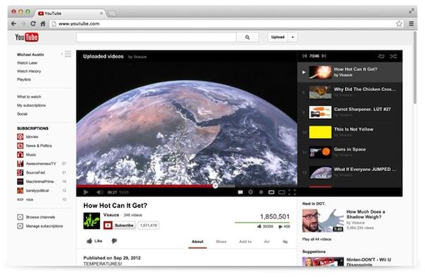 YouTube estrena una renovada interfaz web - Nueva-Interfaz-Youtube