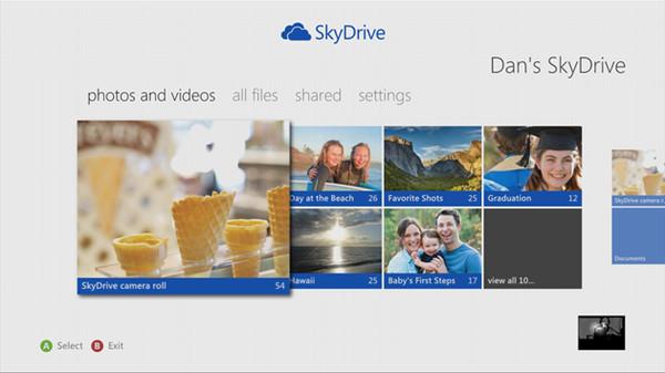 Microsoft pone a disponibilidad Skydrive para Xbox 360 - SkyDrive