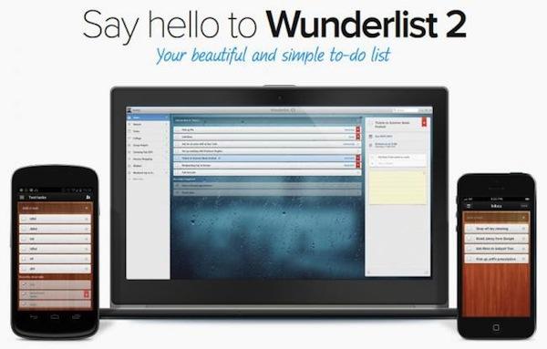 Wunderlist 2 disponible para descargar en todas las plataformas - Wunderlist-2-dispositivos