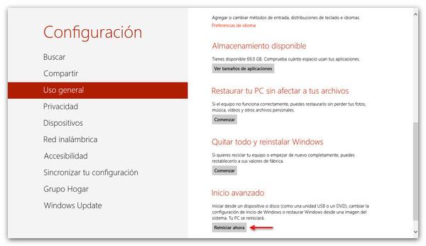 Cómo Iniciar Windows 8 en Modo Seguro - arranque-avanzado-win-81