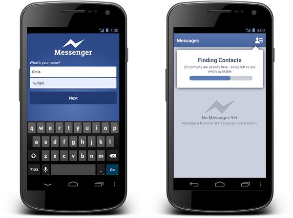 Facebook Messenger para Android ya se podrá usar sin tener cuenta de Facebook - facebook-messenger