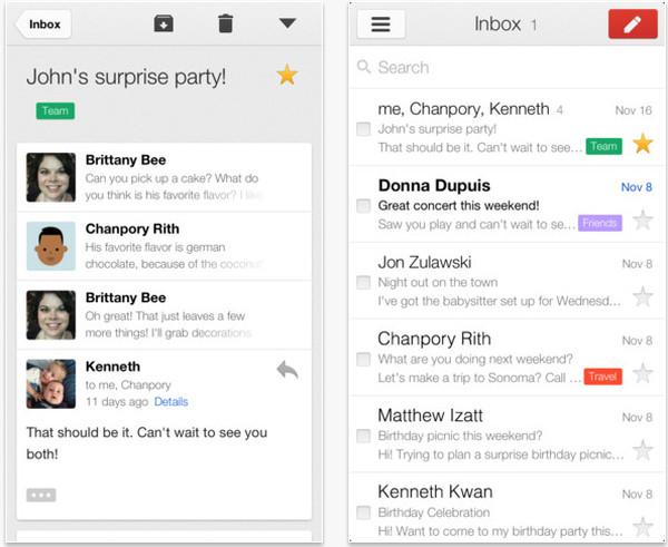 Gmail para iOS se actualiza y viene cargada de novedades - gmail-ios