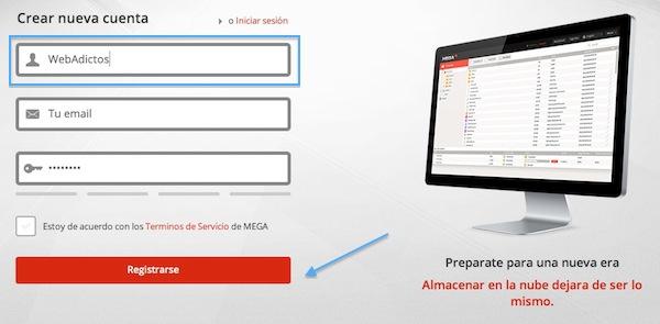 Crear cuenta mega 2 Cómo crear una cuenta gratuita en Mega
