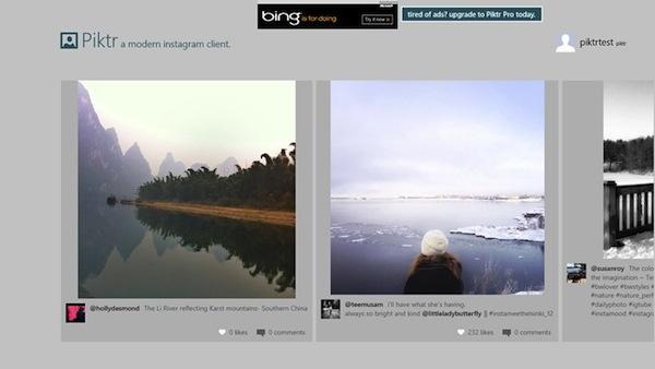 Piktr Instagram Windows 8 RT Ver las fotos de Instagram en Windows 8 y RT con Piktr