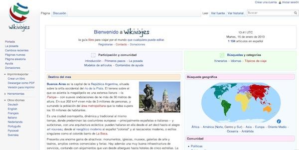 Wikipedia celebra sus 12 años y lanza WikiViajes - Wikivoyage