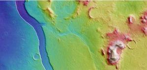 La Agencia Espacial Europea capta imagen de lo que pudo ser un río en Marte
