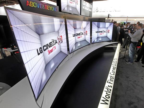 LG presenta su nueva pantalla OLED con pantalla curva - oled-pantalla-curva