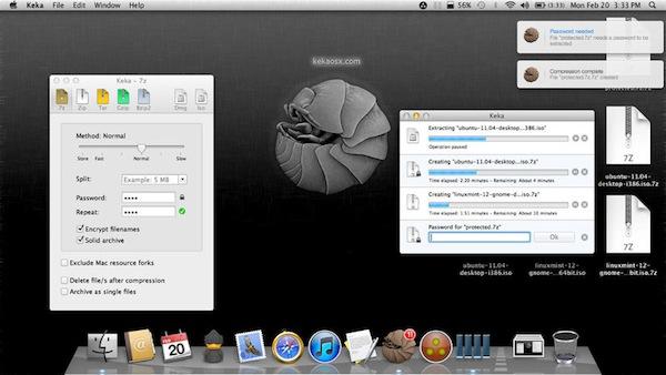 Divide y comprime archivos para compartir en Mac con Keka - Keka