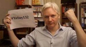 Julian Assange manifestó su apoyo al movimiento mexicano #YoSoy132