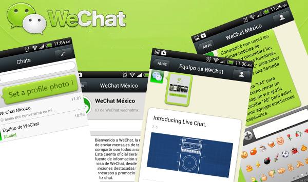 WeChat, novedosa plataforma social y de mensajería instantánea - wechat