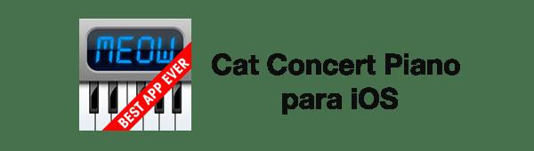 Apps para cuidar y jugar con tu gato - Cat-Concert-Piano