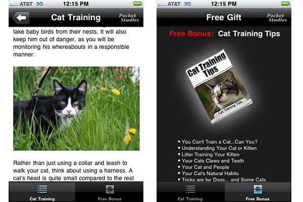 Apps para cuidar y jugar con tu gato - Cat-training-iPhone