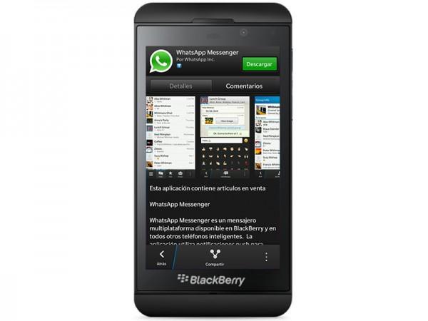 WhatsApp ya está disponible para BlackBerry 10 - blackberry-z10-600x450