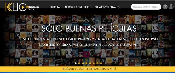 cinepolis klic Cinepolis Klic, la competencia a Netflix y Vudu en el mismo servicio