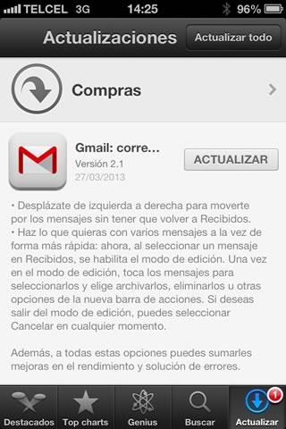 Gmail para iPhone se actualiza permitiendo desplazarse entre mensajes con un gesto - gmail-iphone-2.1