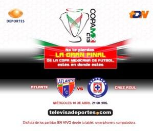 Ver Atlante vs Cruz Azul en vivo por Televisa (Final Copa MX)