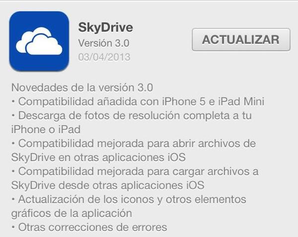 SkyDrive 3.0 es lanzado para iOS con importantes mejoras - skydrive-ios