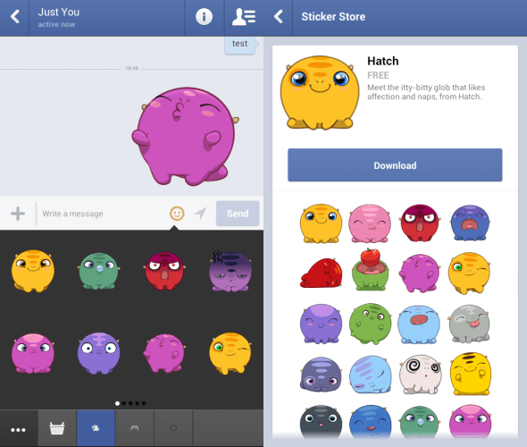 Facebook Messenger para iOS se actualiza y añade stickers - Facebook-Stickers