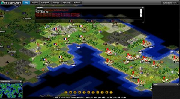 FreeCiv, el genial juego de estrategia llega en HTML5 y de forma gratuita - Freeciv-html5