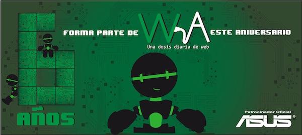Gracias por participar en el 6º Aniversario de WebAdictos - POST