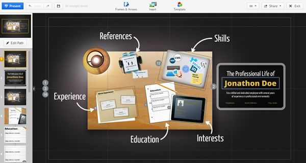 Hacer un currículum espectacular con Prezi - curriculum-online-prezi