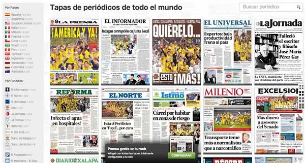 Portadas de periódicos en México y el mundo en covertimes.com - portadas-periodicos-mexico