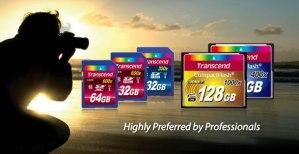 Memoria CompactFlash 1000x de Transcend, ideal para fotógrafos profesionales y cineastas que usan los DSLR's