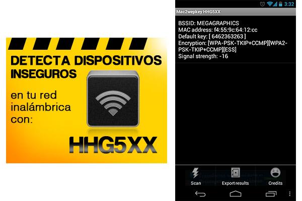 Mac2WepKey HHG5XX, una de las mejores aplicaciones para sacar claves Wi-Fi en Android - HHG5XX-mac2wepkey