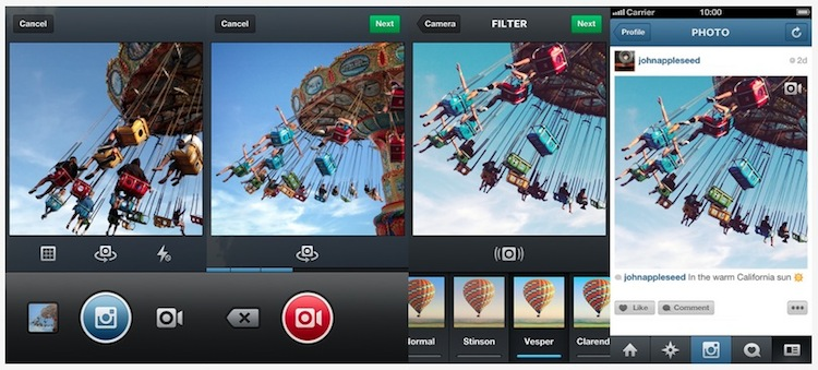 Instagram ahora soporta video oficialmente - Modo-video-instagram