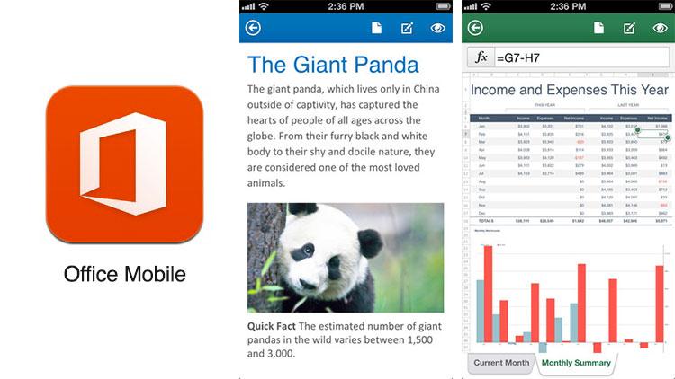 Office Mobile para iOS es publicado por Microsoft - Office-Mobile-iOS