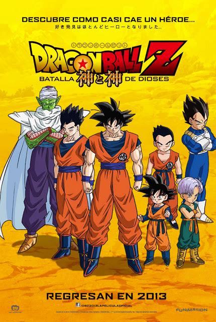 Dragon Ball Z: La Batalla De Los Dioses se estrena en México el 27 de septiembre en Cinemex - Poster-pelicula-dragon-ball-z