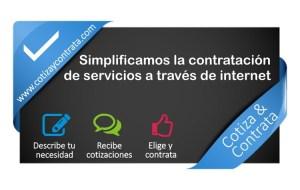 Cotizaycontrata.com, servicios empresariales y particulares por Internet
