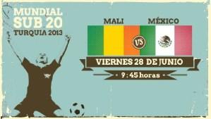 México vs Mali en vivo, Mundial Sub-20 Turquía 2013