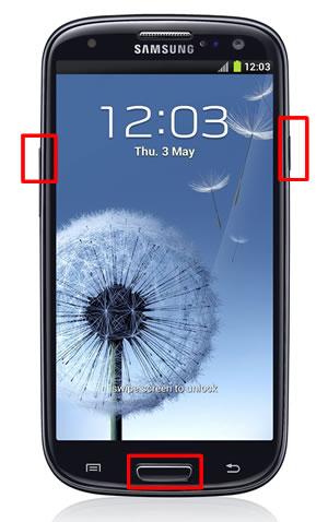 Restablecer valores de fabrica para Samsung Galaxy S3 - modo-recovery