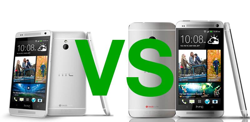 HTC One Vs HTC One Mini Comparación HTC One Mini y HTC One