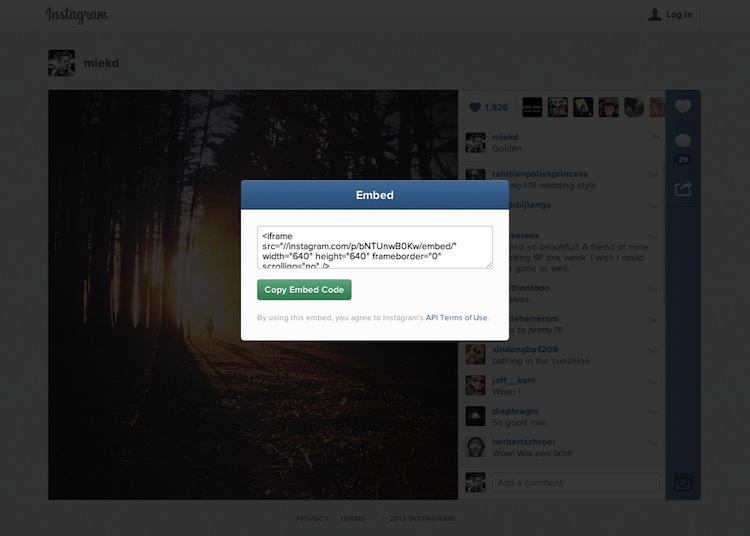 Incrustar video fotos instagram Instagram permite incrustar fotos y videos en sitios web