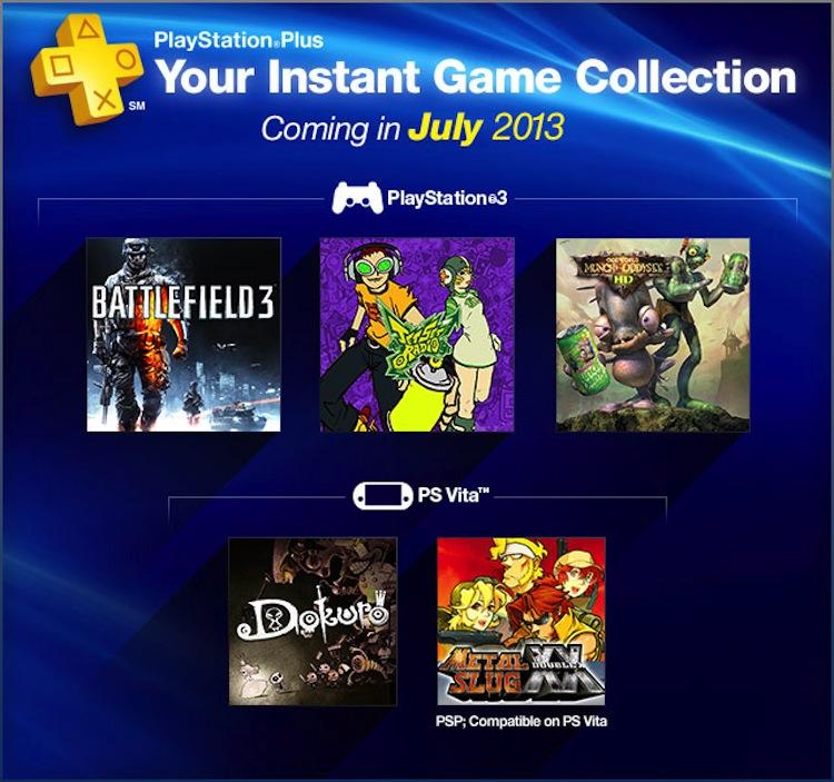 BattleField 3 y MetalSlug XX gratis en PlayStation Plus de julio - PS-Plus-Julio