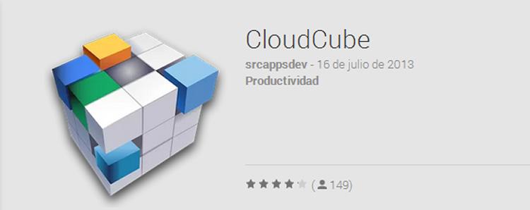 cloudcube para android Administra Dropbox, Google Drive y demás servicios de almacenamiento desde tu Android con CloudCube