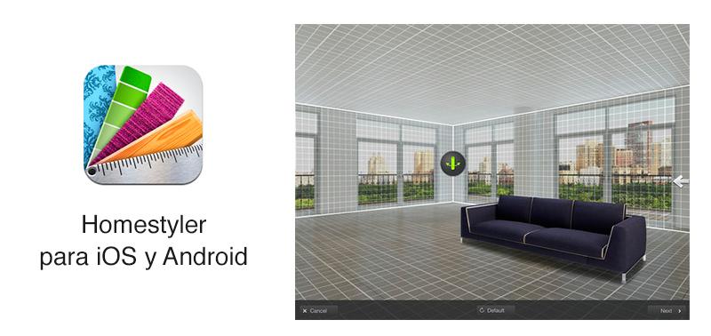 Diseña el interior de tu casa con Homestyler de Autodesk para iOS y Android - homestyler-ios-android