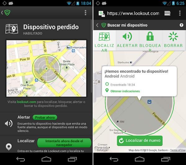 Protege tu celular contra software malicioso con Lookout - localizar-dispositivo-con-lookout