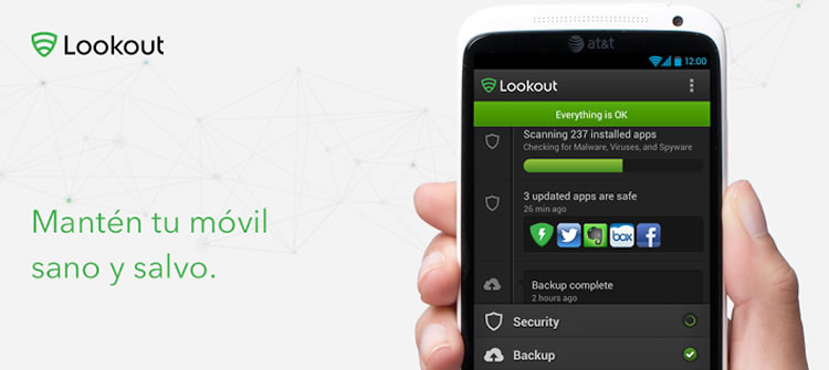 Protege tu celular contra software malicioso con Lookout - lookout-para-dispositivos-moviles