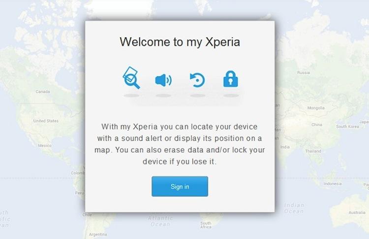 """Sony lanza globalmente """"my Xperia"""", el servicio para encontrar smartphones - my-Xperia"""
