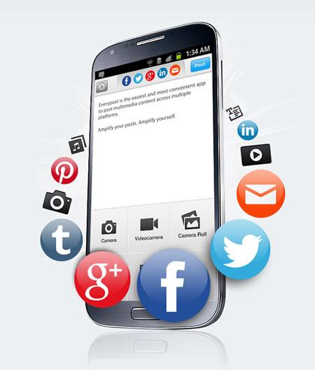 Publica simultaneamente en tus redes sociales con Everypost para Android e iOS - postear-simultaneamente-con-everypost